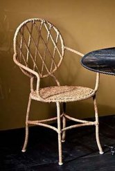 Iron and Rattan Chair